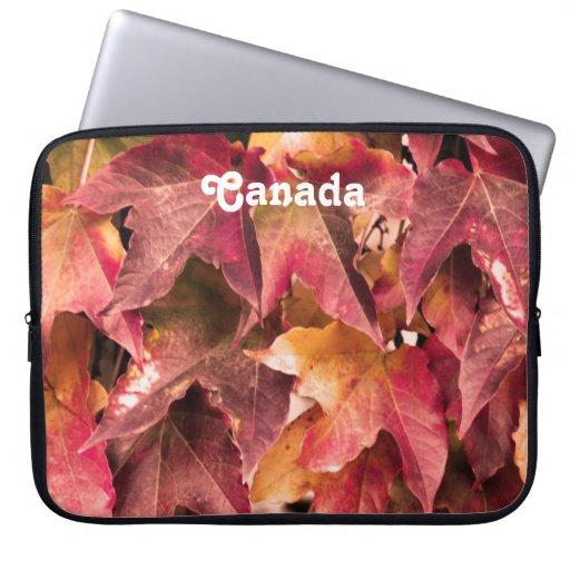 Maple Leaves Laptop Sleeves