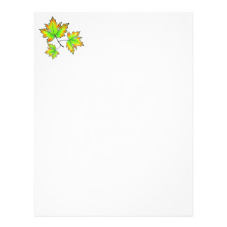 Maple Leaves Letterhead