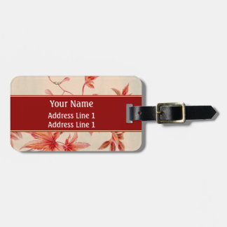 Maple leaves luggage tag