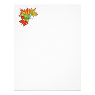 Maple Leaves -multi-colored Letterhead