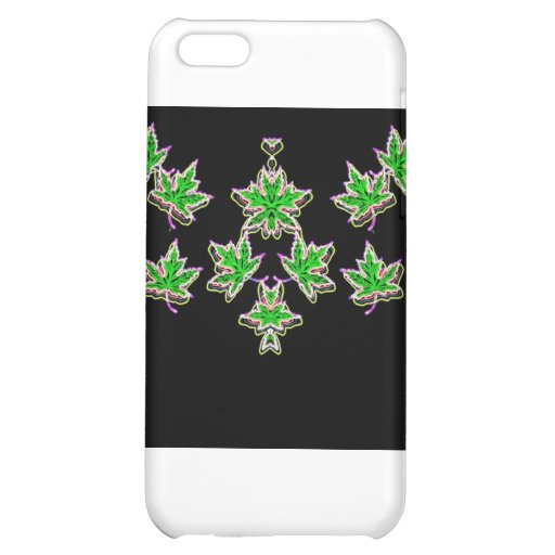Maple Leaves (neon glow) Cover For iPhone 5C
