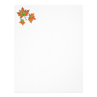 Maple Leaves -orange Letterhead