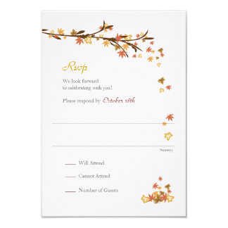 Maple Leaves Rsvp Enclosure Card