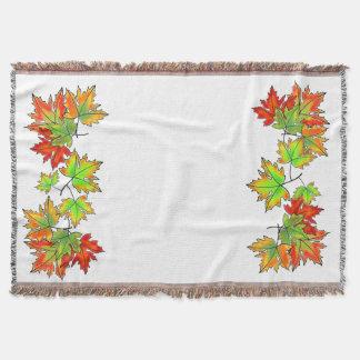Maple leaves throw blanket