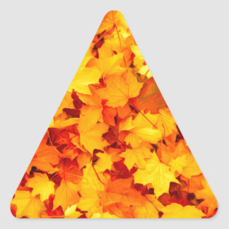 Maple Leaves Triangle Sticker