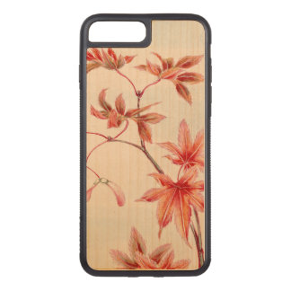 Maple leaves (Vintage Japanese print) Carved iPhone 8 Plus/7 Plus Case