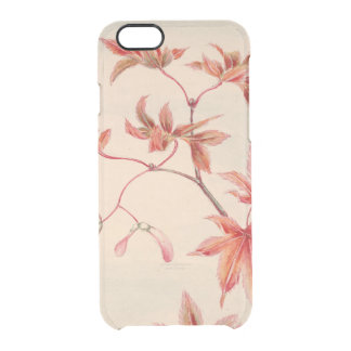 Maple leaves (Vintage Japanese print) Clear iPhone 6/6S Case