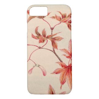 Maple leaves (Vintage Japanese print) iPhone 8/7 Case