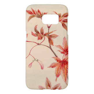 Maple leaves (Vintage Japanese print) Samsung Galaxy S7 Case