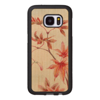 Maple leaves (Vintage Japanese print) Wood Samsung Galaxy S7 Case