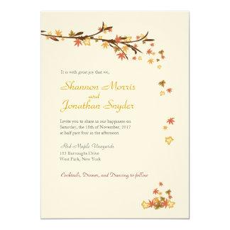 Maple Leaves Wedding Invitation