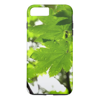 Maple Leaves with Raindrops iPhone 7 Plus Case