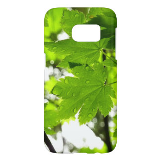 Maple Leaves with Raindrops Samsung Galaxy S7 Case