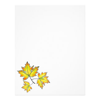 Maple leaves - yellow letterhead