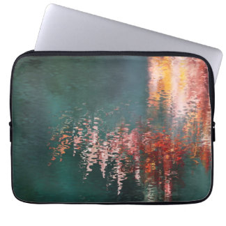 Maple reflections abstract laptop computer sleeves