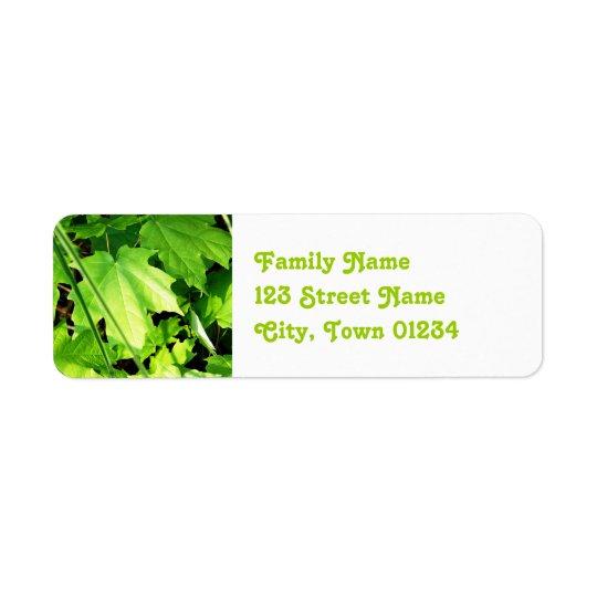 Maple Return Address Label