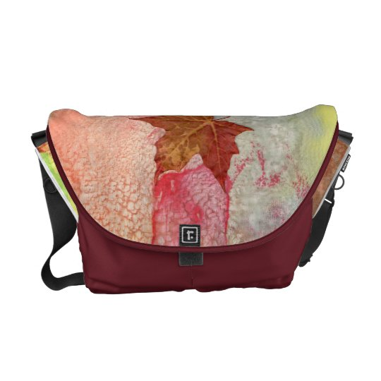 Maple sheets in autumn messenger bag