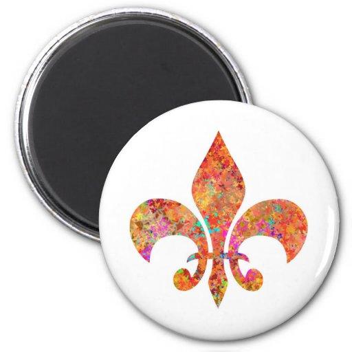 Maple Star Designer Fleur-de-Lis Fridge Magnet
