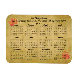 Maple Syrup 2018 Calendar Business Magnet