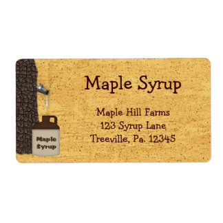 Maple Syrup Business Label Product Label