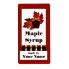 Maple Syrup Jar Label