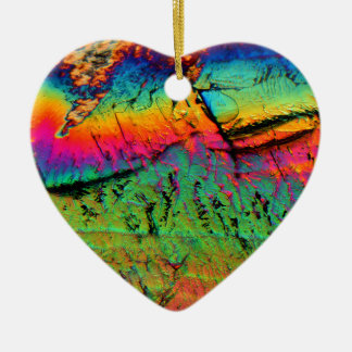 maple syrup under a microscope ceramic heart ornament