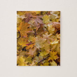 Maple Tree Fall Leaves Background Jigsaw Puzzle
