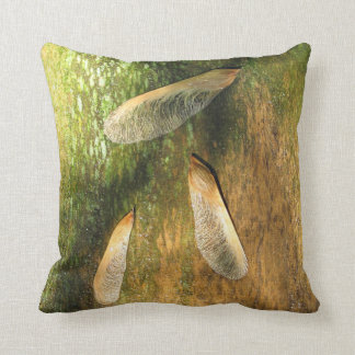 Maple Tree Helicopters On Cedar Throw Pillow