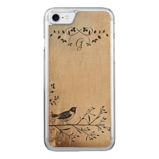 Maple Wood Bird on Tree Branch iPhone Case
