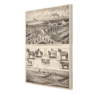 Maple Wood Farm, Kansas Canvas Prints