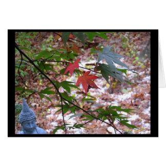 Maple Zen Notecard