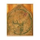 Mappa Mundi, c.1290 Wood Print