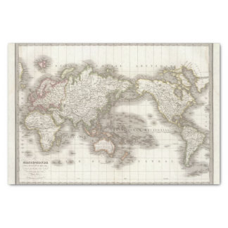 Mappemonde - Globe map Tissue Paper