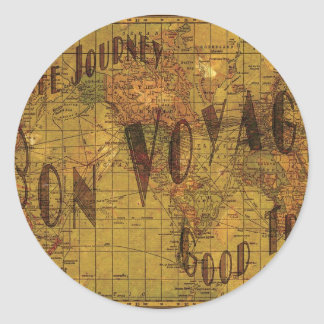 Mapping My Travels Classic Round Sticker