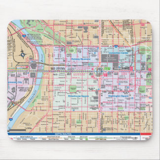 Mapping The City of Brotherly Love Mouse Pad