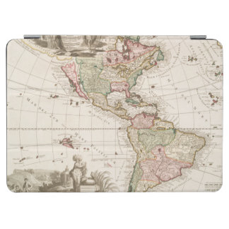 Maps of North and South America (1680-1742) iPad Air Cover