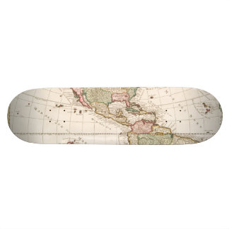 Maps of North and South America (1680-1742) Skate Board Decks