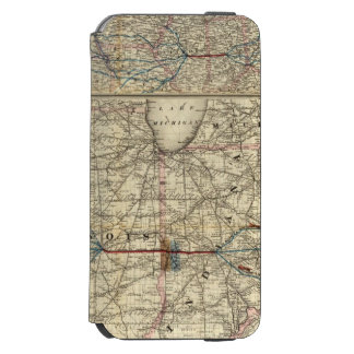 Maps showing the Indiana Incipio Watson™ iPhone 6 Wallet Case