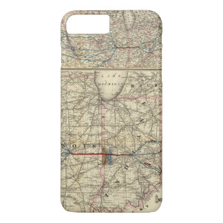 Maps showing the Indiana iPhone 7 Plus Case