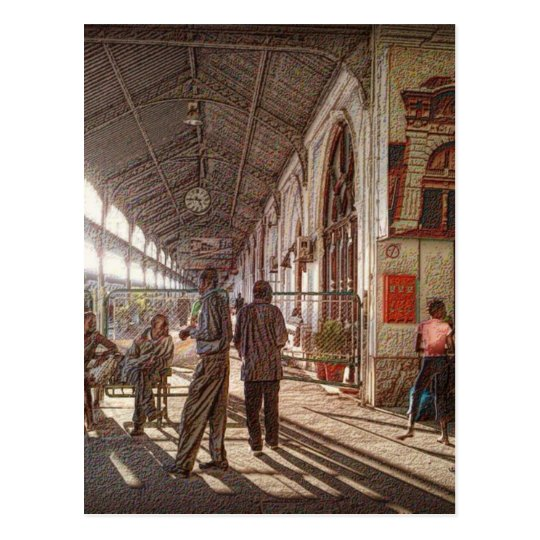 Maputo Railway Station Postcard
