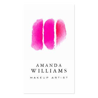 Maquilleur rose d'échantillons de maquillage carte de visite standard