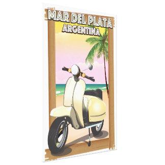 Mar del Plata Argentina beach poster Canvas Print