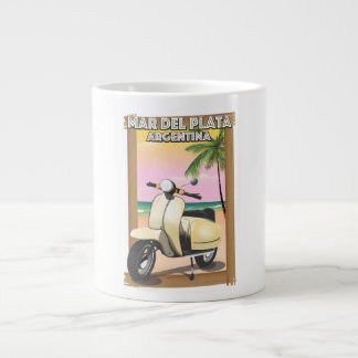 Mar del Plata Argentina beach poster Large Coffee Mug