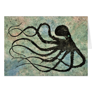 "Maranda's Octopus - 7"" x 5"" Art Card"