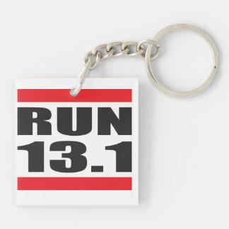 Marathon 13.1 Double-Sided square acrylic keychain