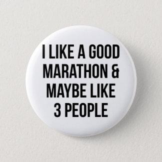 Marathon & 3 People 2 Inch Round Button