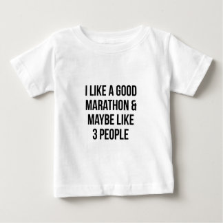 Marathon & 3 People Baby T-Shirt