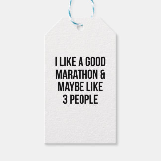 Marathon & 3 People Gift Tags