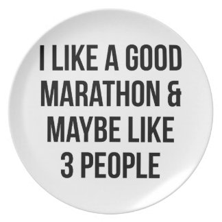 Marathon & 3 People Plate