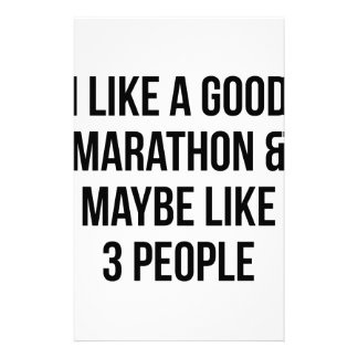 Marathon & 3 People Stationery